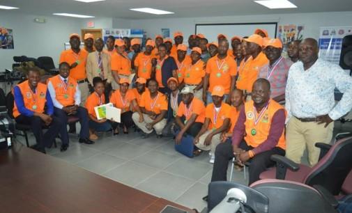 La Direction de la Protection Civile honore 105 membres de ses structures territoriales, agents et brigadiers volontaires, ainsi que des scouts