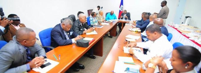 Rencontre du Ministre de l'Intérieur M. Jean Marie Reynaldo Brunet avec les Délégués Départementaux