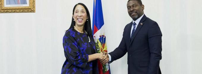 Visite de courtoisie de l'Ambassadeur des Etats-unis 🇺🇸 accrédité en Haiti, au Ministre de l'Intérieur et des Collectivités Territoriales.