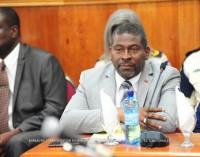 Le Ministre de l'Intérieur et des Collectivités Territoriales, Jean Marie Reynaldo BRUNET au Parlement haitien
