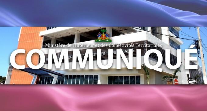 COMMUNIQUÉ : DÉMENTI  PORTANT SUR DES INFORMATIONS FAISANT ÉTAT DE FINANCEMENT DES SERVICES DE RENSEIGNEMENT DU MICT